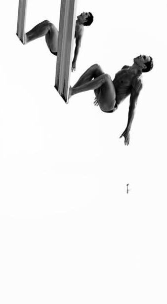 """10 meters to London"" - jumping from a spring board, enjoy the summer & swim | photography black & white . Schwarz-Weiß-Fotografie . photographie noir et blanc | Photo: George Kamper @ oneeyeland |"