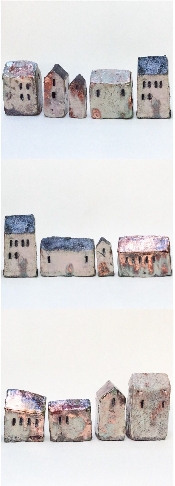 Little #raku houses. #ceramics #asiaceramics