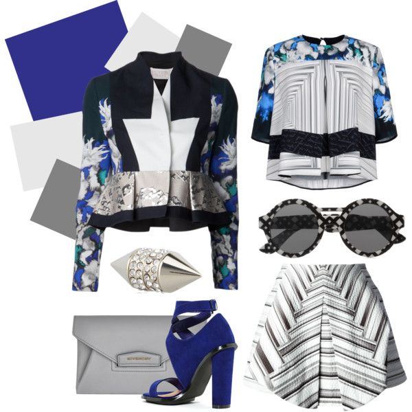 """Blue prints"" by lelouka on Polyvore"
