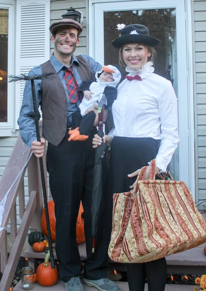 mary poppins and bert couples and familygroup costume diy marypoppins bert halloween clothescouple halloweenbaby - Infant Penguin Halloween Costume