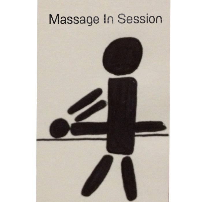 sample resume for massage therapist student%0A Massage in session door hanger