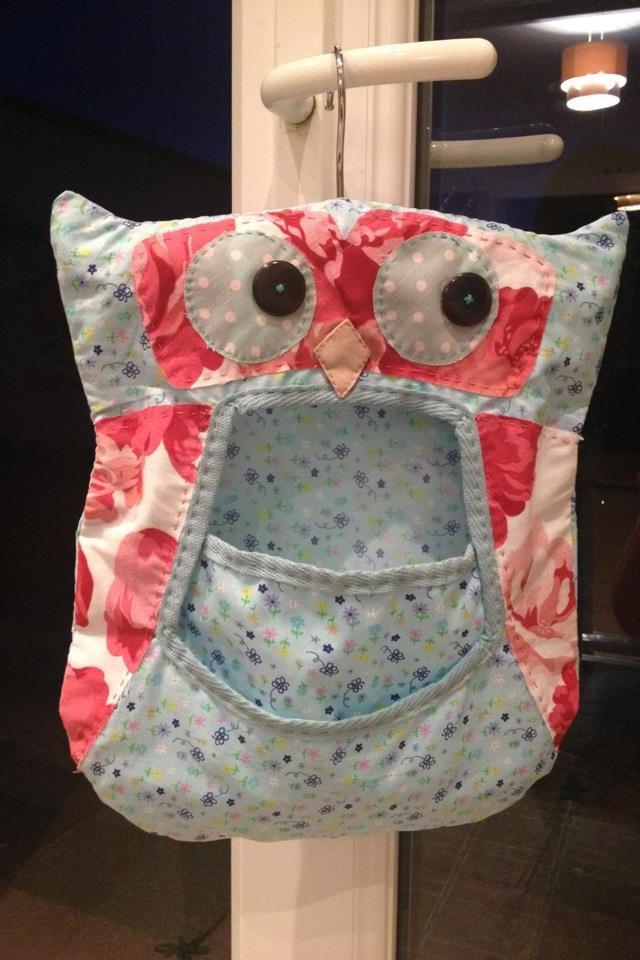Handmade peg bag by me!