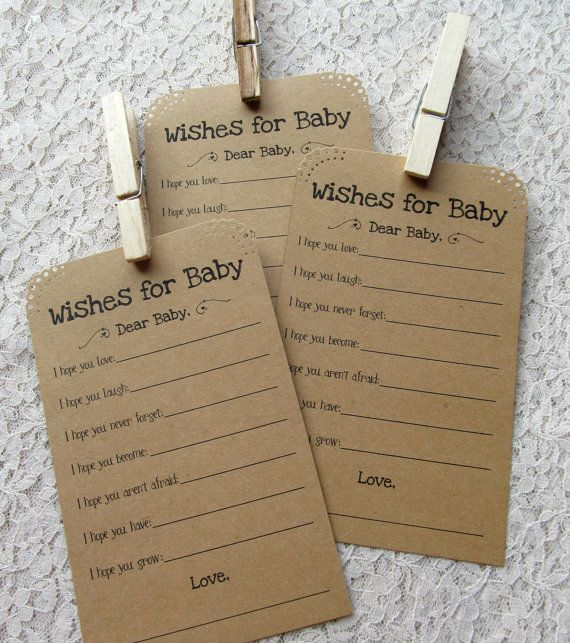 Set of 12 Baby Shower Wish Tags/ Advice Tags by FreeSpiritCrafting