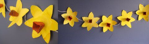 spring crafts daffodil bunting for the classroom?