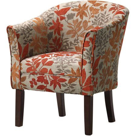 Coaster Company Accent Chair Beige Red Orange Brown