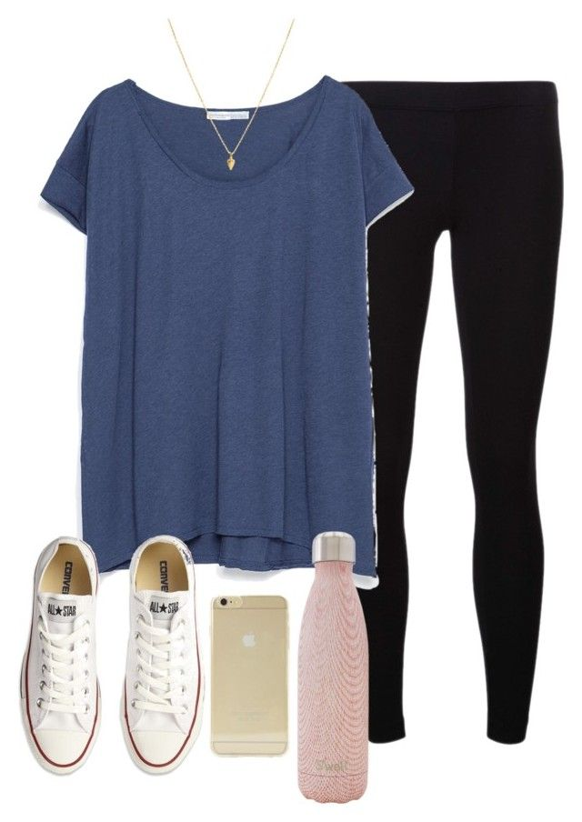 """""""OOTD"""" by prep-lover1 ❤ liked on Polyvore featuring James Perse, Zara, S'well, Sonix and Converse"""