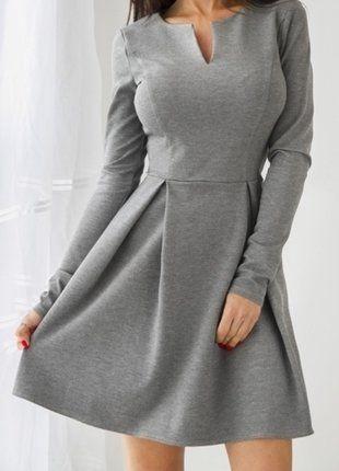 Kup mój przedmiot na #vintedpl http://www.vinted.pl/damska-odziez/krotkie-sukienki/16545248-popielata-rozkloszowana-sukienka-38-40-zipp
