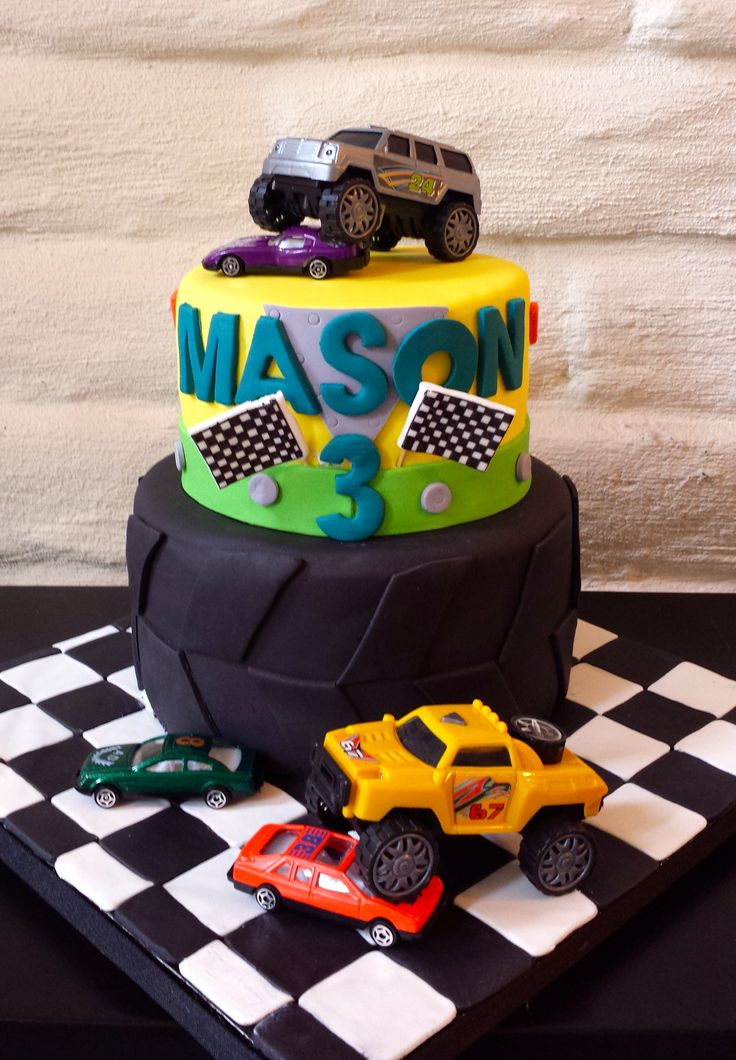 Monster Truck Birthday Cake Truck Birthday Cakes