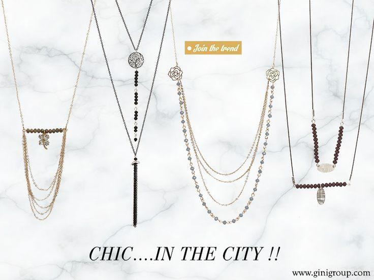 Ιδέες για τις πιο chic εμφανίσεις στα καταστήματα gini... Μπες στο https://goo.gl/8gUa4C και ανακάλυψε τις νέες chic&elegant αλυσίδες από την πλούσια συλλογή μας... Συνδύασε τις με κρύσταλλα και στοιχεία φιλιγκρί, για δημιουργίες με minimal look...
