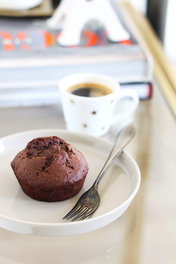 Dezebananenmuffins met chocolade zijn gemaakt naar een recept van Nigella Lawson. We pasten dit recept een…