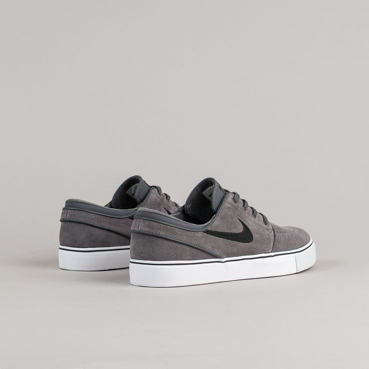 Nike SB Stefan Janoski Shoes - Dark Grey / Black - Pure Platinum - Black