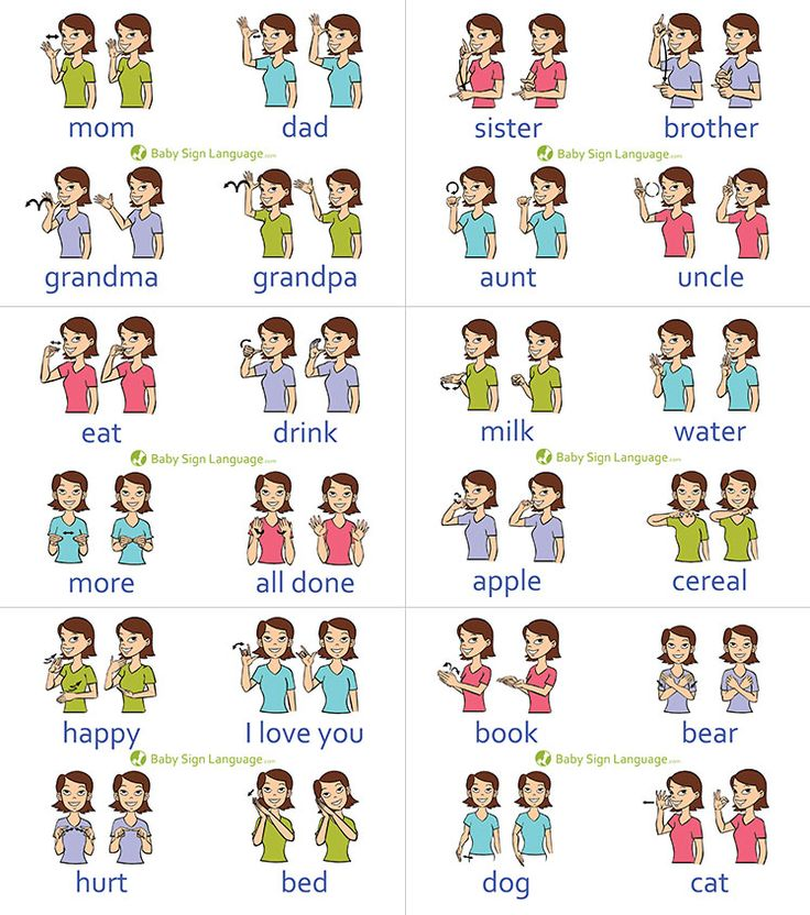 Baby Sign Language Chart (self-print version)   The printable baby sign language chart helps you learn the basic signs so that you can in turn teach
