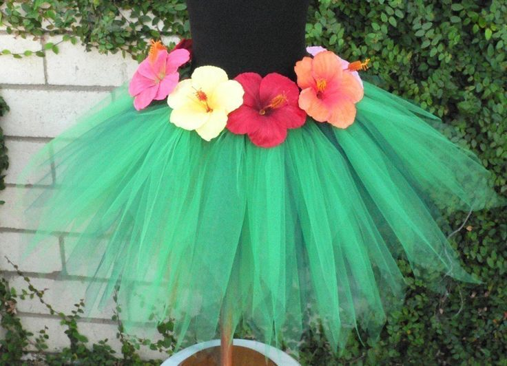 Kalei, an island pixie - 14.5 inch petite pixie tutu - Grass Hula Skirt Inspired Custom SEWN Tutu. $50.00, via Etsy.