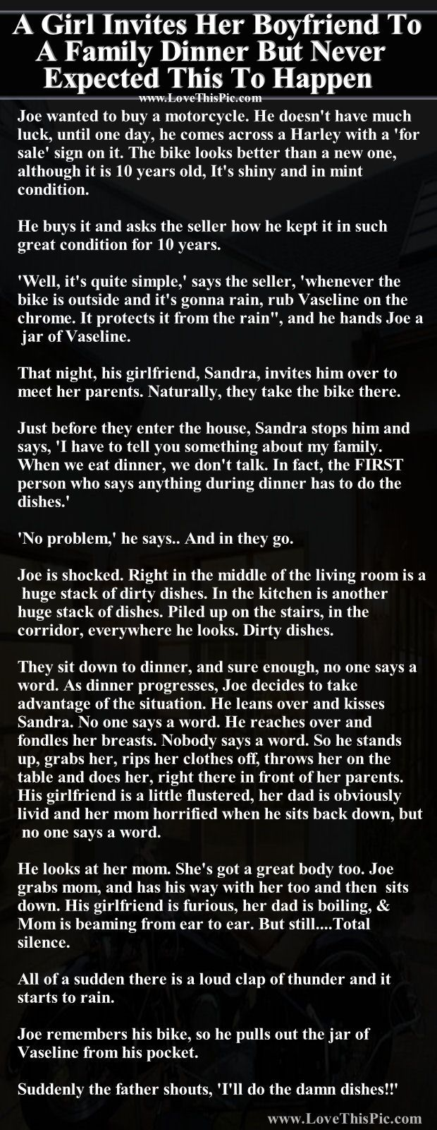 A Girl Invites Her Boyfriend To A Family Dinner But Never Expected This To Happen funny jokes story lol funny quote funny quotes funny sayings joke hilarious humor stories funny jokes relationship humor