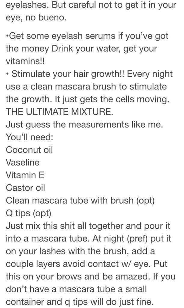 Eyebrow/lash tips.                                                                                                                                                      More