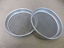 Gold panning sieve set (for his concrete) He was looking at antique wooden ones but these would do the job I'm sure