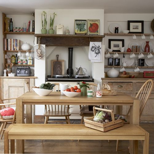 Rustic Wooden Cabinets, Range Cooker , Open Shelving. Rustic Country  KitchensCountry Kitchen DesignsFarmhouse ... Part 86
