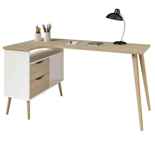 bureau d angle style scandinave avec