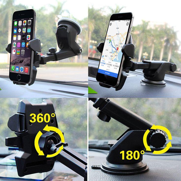 Universal stickey pemegang mobil ponsel pintar dukungan navigasi hisap 360 putar adjustable 4-6 inch bracket untuk iphone samsung