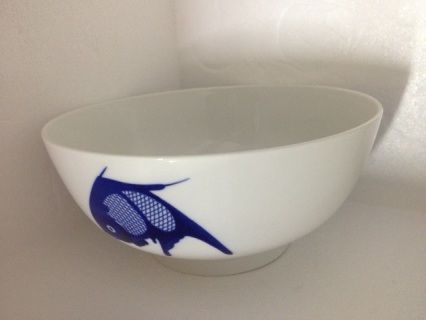9 inch straight side blue fish bowl