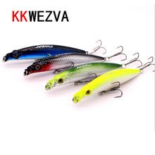 US $5.15 KKWEZVA 4 Pcs New 9cm/10g Fishing Lure Minnow Hard Bait Artifical Lure With 2 Fishing Hooks Fishing Tackle Lure Peche Pesca. Aliexpress product