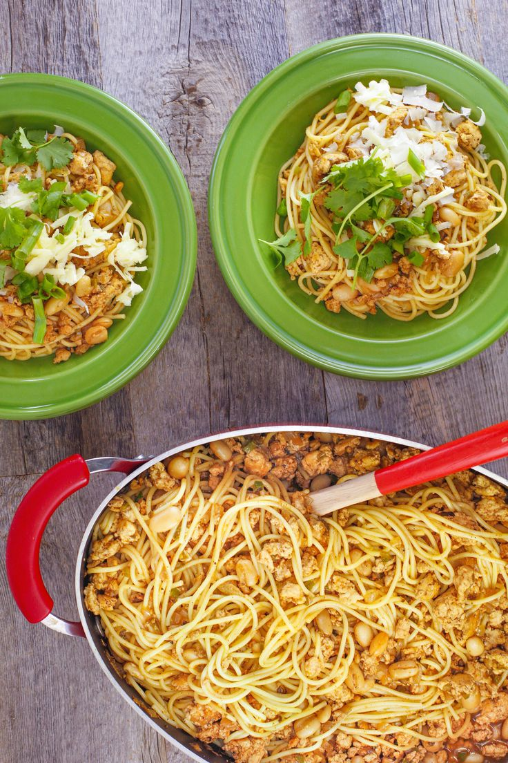 This chicken chili cowboy spaghetti is a fun and flavorful dish that combines everything you love about Mexican food with a hearty helping of pasta.