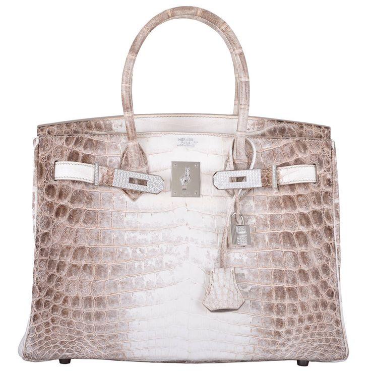 HERMES BIRKIN BAG 30cm MATTE HIMALAYAN CROCODILE 18K \u0026amp; DIAMOND ...