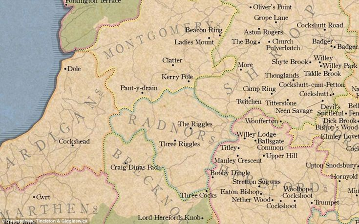 Many of the humorous place names are found in Wales; two particular highlights being Lord ...