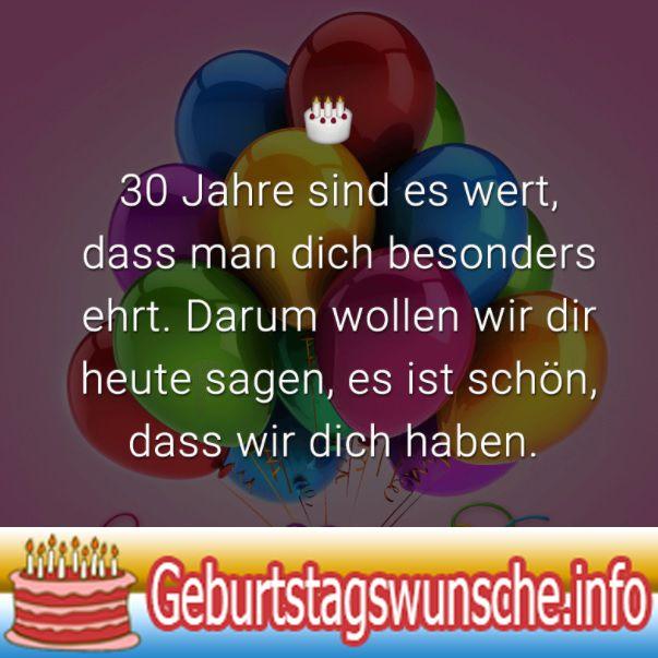 Spruche Zum 30 Geburtstag Gluckwunsche Zum 30 Geburtstag Mit