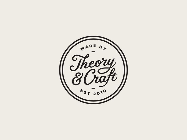 Theory & Craft by Steve Wolf Designs logo design identity badge circle enclosure stamp script typography