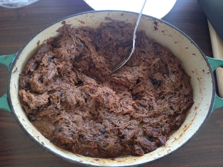 Kraft's Bull's Eye BBQ sauce gives the pulled beef a terrific smoky flavor.