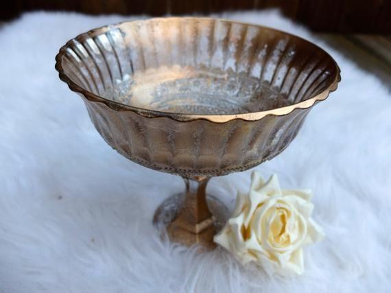 Metallic Bronze Gold Sehr Distressed Vase Hochzeit Herzstück Herzstück Glas Blumenvase Gold Mi  – Products