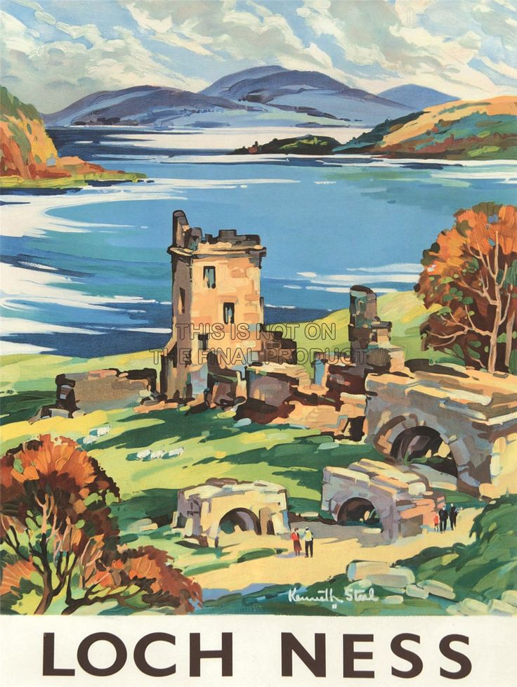 Vintage travel poster Scotland