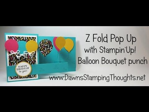 Z Fold Pop Up video (Dawns stamping thoughts Stampin'Up! Demonstrator Stamping Videos Stamp Workshop Classes Scissor Charms Paper Crafts)
