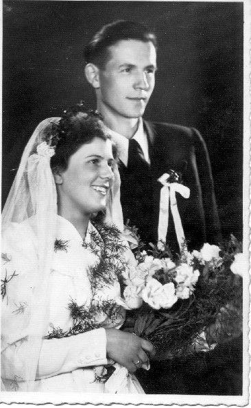 Sylwester Widuch, Janina Duplicka Ślub Kłodzko 07.04.1953 r.