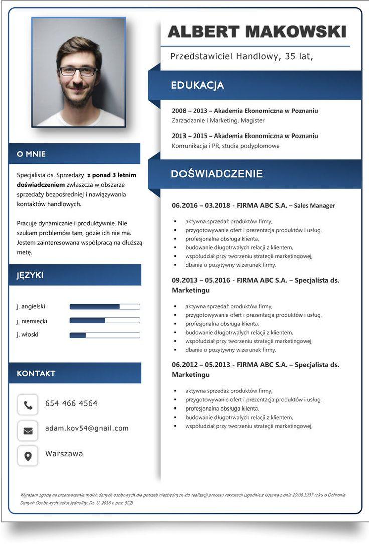 CV Studenta lub Absolwenta ⇒ Wzory Doc Pobierz