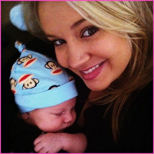 Tiffany Thornton And Her Son KJ Carney Enjoy Cuddle Time