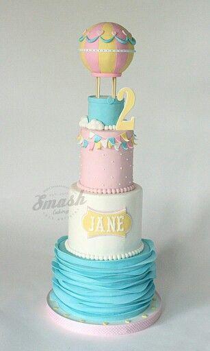 Baby Hot Air Ballon Cake