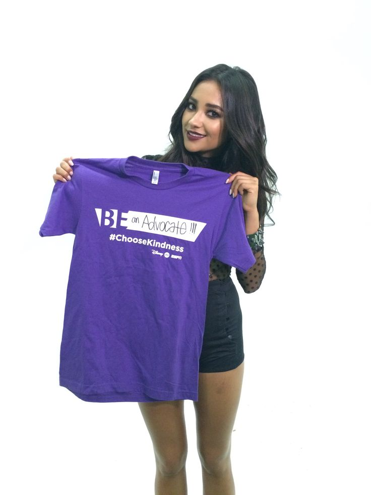 Shay Mitchell is wearing purple for #SpiritDay! Show your support for #LGBT youth! glaad.org/spiritday   #ChooseKindness