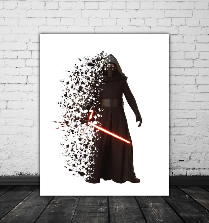 Star Wars Kylo Ren Poster Movie Prints, Star Wars Art, The Force Awakens Poster, Splash Art, Dark Side, Star Wars 7, Kylo Ren Lightsaber by PRINTANDPROUD on Etsy https://www.etsy.com/listing/260209353/star-wars-kylo-ren-poster-movie-prints