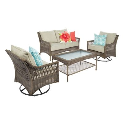 allen + roth Claremont 4-Piece Conversation Set