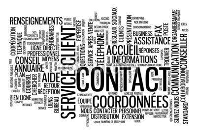 """Nuage de Tags """"CONTACT"""" (service clients coordonnées aide nous)"""