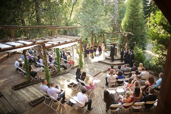 Pine rose cabins best forest wedding venue in lake for Cabin wedding venues