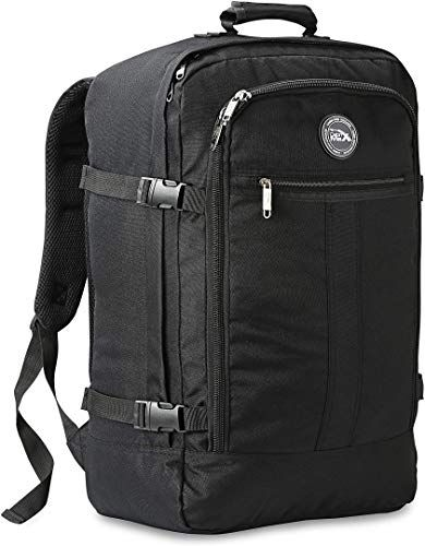 New Cabin Max? Metz Backpack Men Women Flight Approved Carry On Luggage Bag Massive 44 Litre Travel Hand Luggage 22x14x9 – Perfectly Sized Southwest Airlines Many More! (Black) online