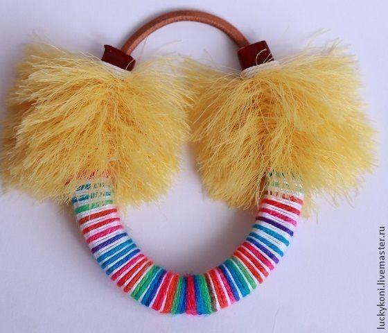 Купить Счастливая подковка коллекция YETI - желтый, бежевый, белый, черный, оранжевый, бирюзовый, подкова
