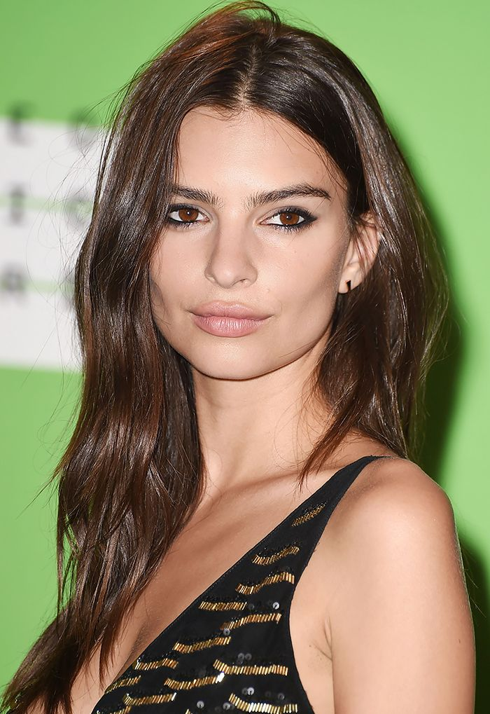 Emily Ratajkowski's signature look is a rose-nude lip and tousled waves