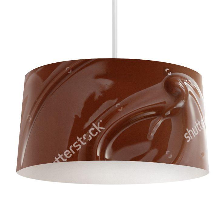 Lampenkap Gesmolten chocolade | Bestel lampenkappen voorzien van digitale print op hoogwaardige kunststof vandaag nog bij YouPri. Verkrijgbaar in verschillende maten en geschikt voor diverse ruimtes. Te bestellen met een eigen afbeelding of een print uit onze collectie. #lampenkap #lampenkappen #lamp #interieur #interieurdesign #woonruimte #slaapkamer #maken #pimpen #diy #modern #bekleden #design #foto #voedsel #chocola #chocolade #heerlijk #lekkernij #gesmolten