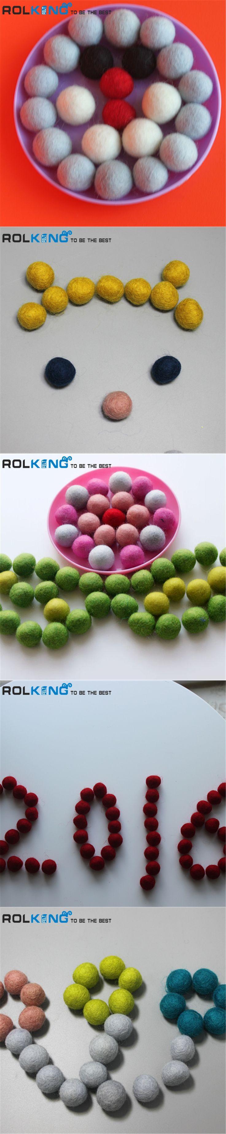 Felt Balls wool 100pc/lot wool felt ball 20MM multicolors coloured ball  Wool balls  Colourful beads Jewelry assorted colors