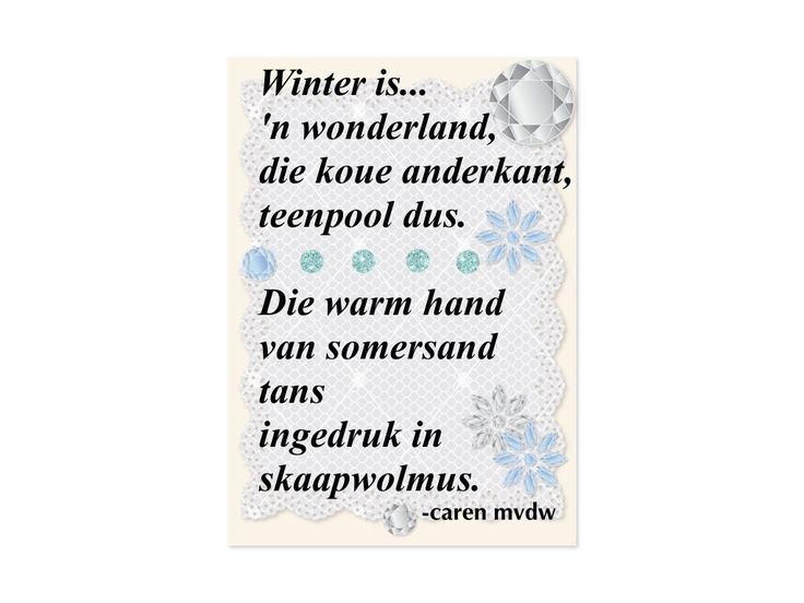 Winter is deur Caren