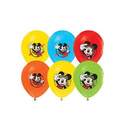 Doğum Günü Partileri ve Bebeklerin Favorisi Renkli Balonlar Paket içerisinde doğum günü parti temanızı tamamlayacak Mickey mouse konseptine uygun 10 adet karakter baskılı latex balon mevcuttur.